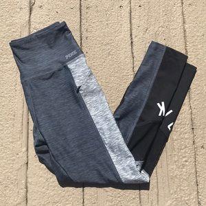 PINK Gray w/ Mesh Workout Leggings